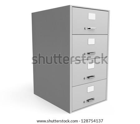 Traditional File Cabinet on a white background