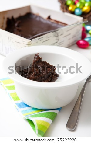 Traditional finnish Easter food, m?mmi, rye pudding