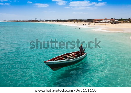 Shutterstock Traditional fisher boat in Santa Maria  in Sal Island in Cape Verde - Cabo Verde