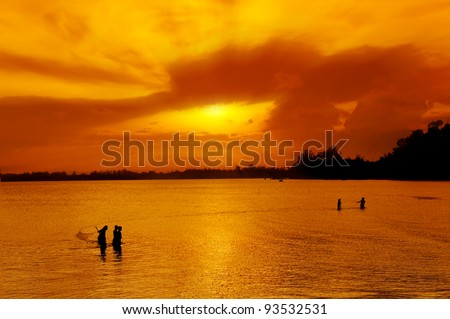 traditional fisherman in asia country