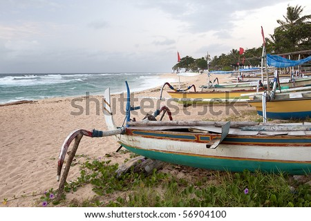 Traditional Fishing Boats in Bali