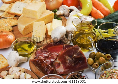 Traditional food ingredients used in italian and other for Cuisine 5 ingredients