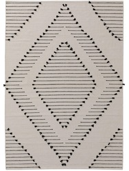 Traditional geometric rug with typical pattern.