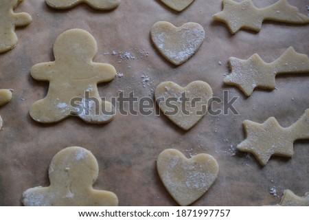 Traditional German Christmas cookies baking Stock foto ©