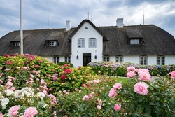 Traditional German Frisian House in Keitum, Sylt, Schleswig-Holstein, Germany