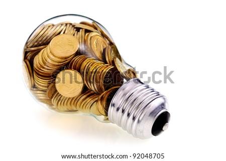 Traditional glass bulb and energy savings