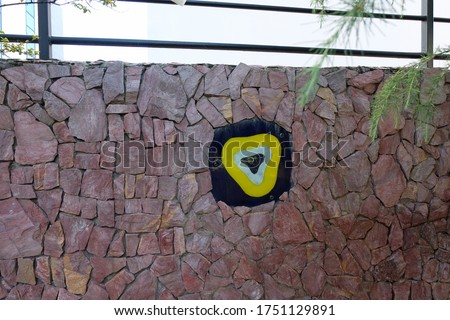 Traditional glass evil eye decoration on a wall Stok fotoğraf ©