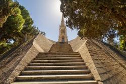 Traditional gothic church on Addolorata Cemetery on Malta, near Valletta.