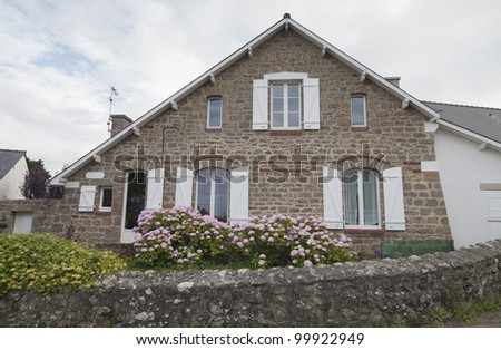 Traditional granite house in Brittany - Saint-Malo, Brittany, France