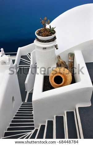 Traditional greek architecture in Firostefani village, Santorini