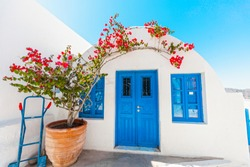 Traditional greek house, Cycledic architecture, Santorini, Greece