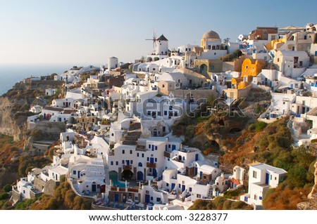 traditional greek village Oia Santorini