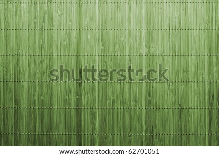 Traditional green bamboo pad texture