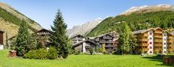 Traditional half-timber houses in Zermatt