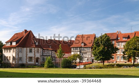 Traditional Half-Timbered Houses in Hildesheim (near Hannover), Lower Saxony, Germany