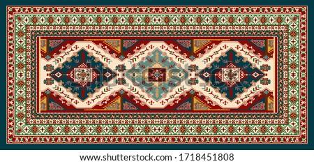 traditional hand printed beautiful illustration carpet design.textile printed carpet.textile dupatta design.