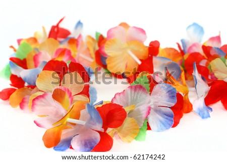 Traditional Hawaiian floral necklace