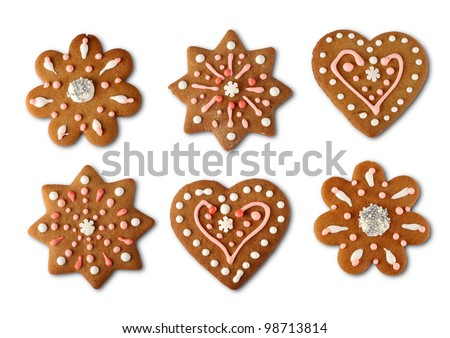Traditional home made Christmas cookie ginger breads