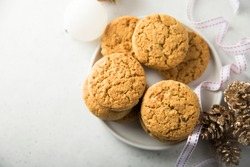 Traditional homemade festive ginger snaps