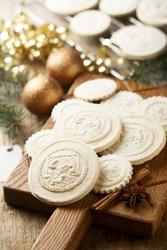 Traditional homemade Springerle cookies