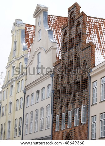 traditional homes in Lübeck, Germany