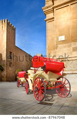 Traditional horse-drawn carriage in Spain