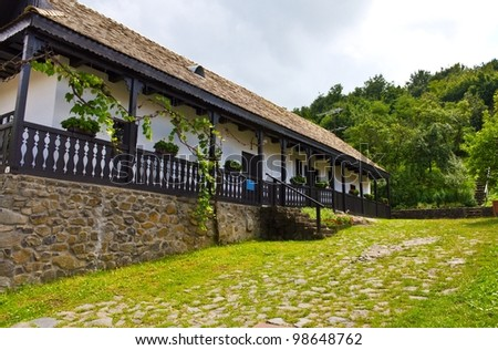Traditional house in Holloko, Hungary. UNESCO World Heritage Site.