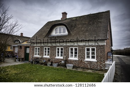 Traditional house in Nordby on the danish island Fanoe