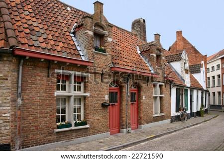 Traditional houses in Brugge, Belgium