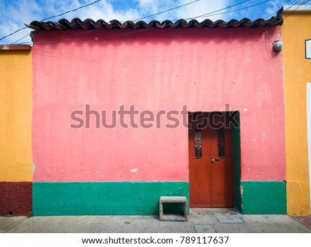 Traditional houses of the city of Guatemala.