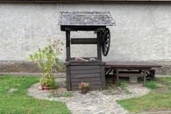 Traditional hungarian house at Kisnana castle in Hungary