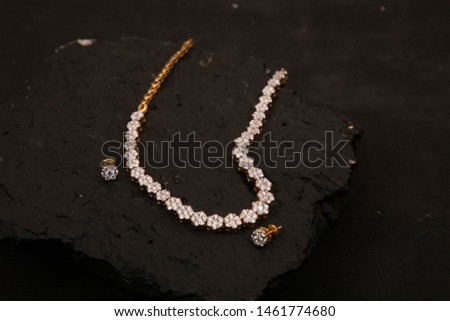 Traditional Indian Diamond Jewelry and chains   #1461774680