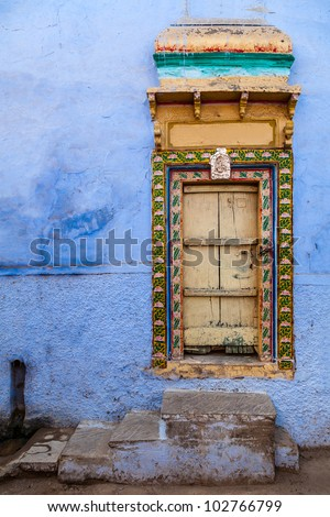 traditional indian house, Jodhpur, Rajasthan, India, Asia