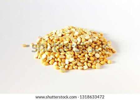 traditional indian roadside street snack food roasted chickpea nut daliya dalia or chana dal  isolated on