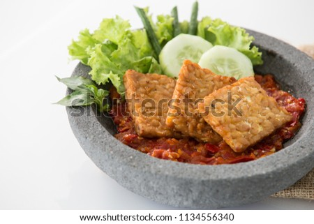 sambal tempe penyet eastern javanese crushed tempe sambal