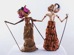 Traditional indonesian javanese puppet /doll/toys, performance scenePuppet Show  is one of the traditional puppet arts from West Java, Indoesia