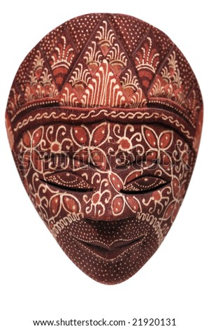 Traditional Indonesian mask on a white background #21920131