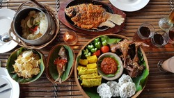 Traditional Indonesian meal from Central Java
