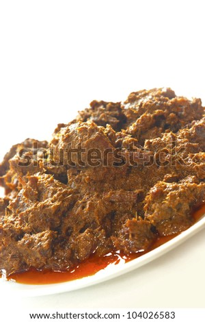 Traditional Indonesian spicy beef, Beef Rendang