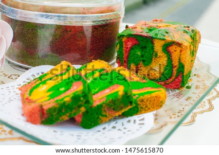 Traditional Indonesian sweet Lapis layer cake #1475615870