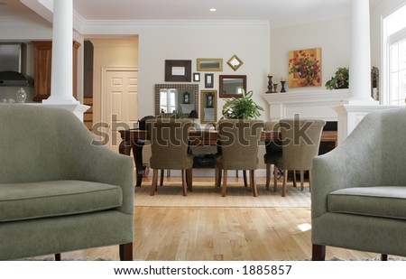 traditional interior - stock photo