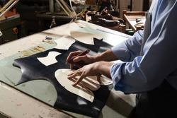Traditional Italian artisan measure shoemaking