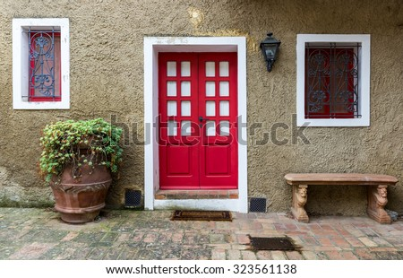 Traditional italian house in Bolgheri, Italy #323561138