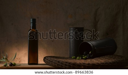 traditional italian tools for producing olive oil