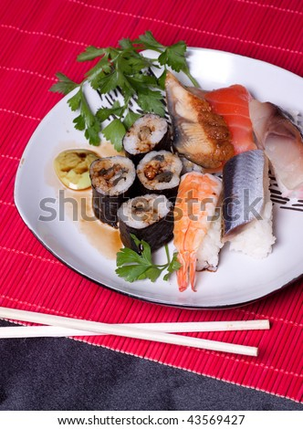 Traditional japanese food - sushi