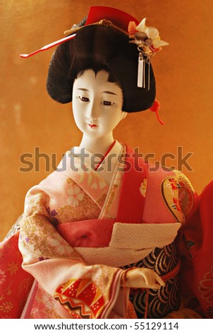 Traditional Japanese Geisha Doll