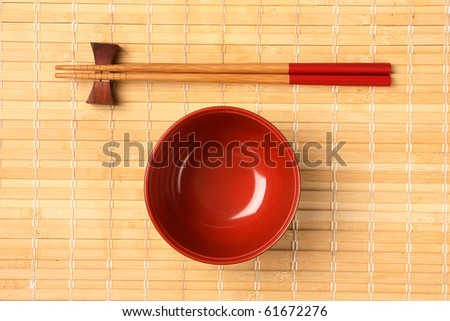 Traditional japanese restaurant utensil with sticks