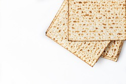 Traditional Jewish kosher matzo for passover. Pesah celebration concept (jewish Passover holiday)