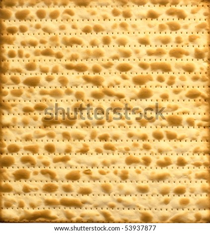 Traditional Jewish Matzo sheet useful as background
