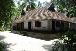 traditional Kerala house in green background